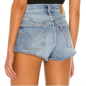 Levi's 501 High Rise Shorts Ripped Distressed